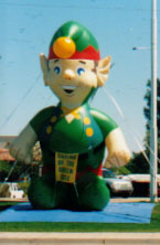 Christmas elf advertising inflatable
