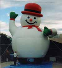25 ft. tall snowman balloons for sale and rent.